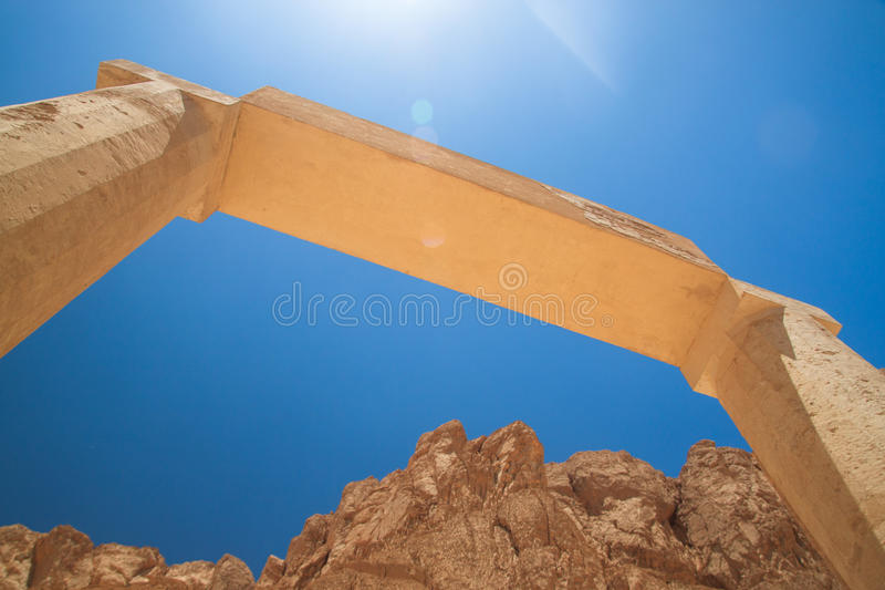 Arch Of Mortuary Temple Of Hatshepsut Royalty Free Stock Photography