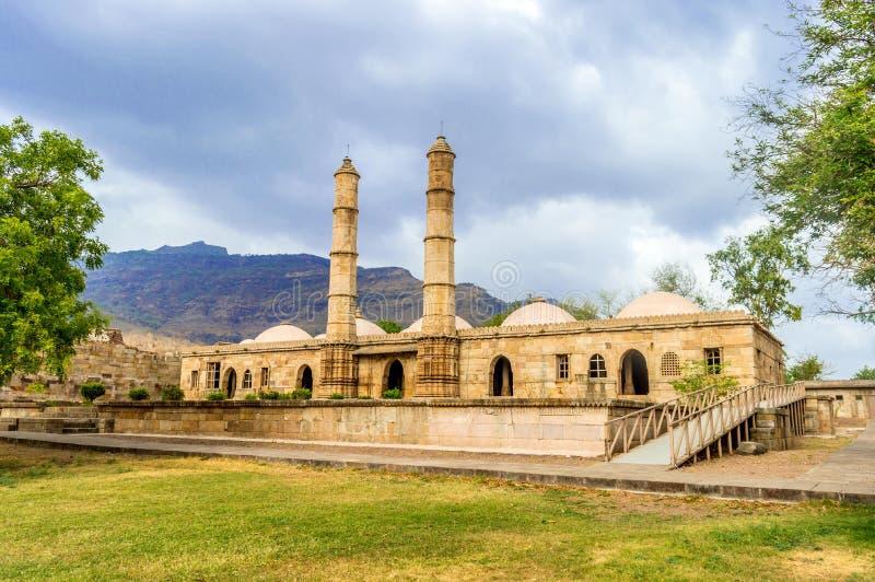 Arch?ologischer Park Champaner-pavagath stockfoto