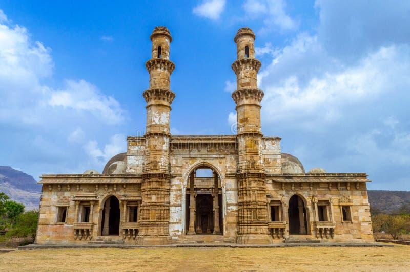 Arch?ologischer Park Champaner-pavagath stockfotografie