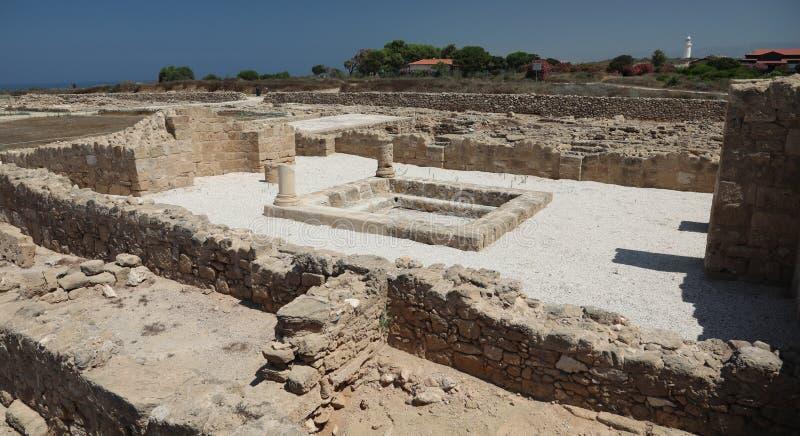 Arch?ologisches Museum in Paphos auf Zypern lizenzfreie stockbilder