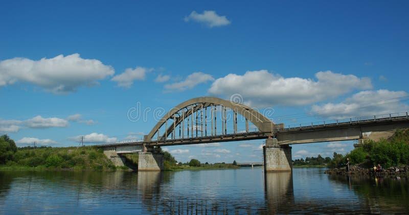Arch railway bridge stock photos