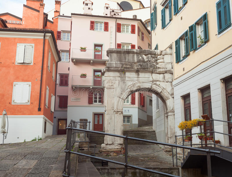 Arch of Richard, Roman monuments, Trieste royalty free stock photography