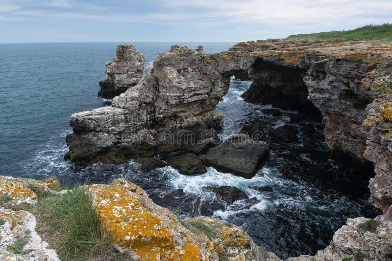 The Arch - rock formation near Tyulenovo, Black Sea, Bulgara. The Arch - rock formation near Tyulenovo village, Black Sea, Bulgara royalty free stock photography