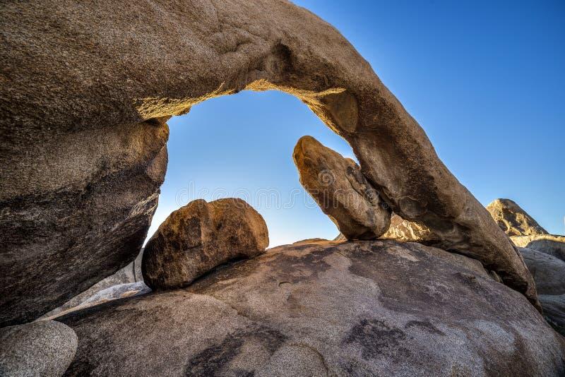 Arch Rock at Joshua Tree National Park stock photos