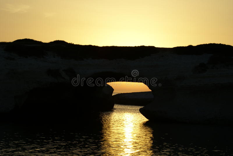 Arch between the rocks royalty free stock image