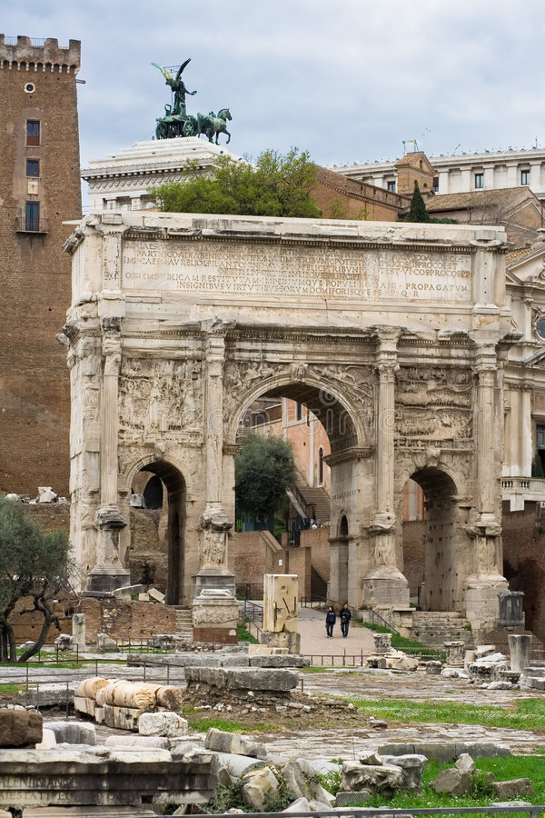 Download Arch in Roman Forum stock photo. Image of majestic, architecture - 2181198