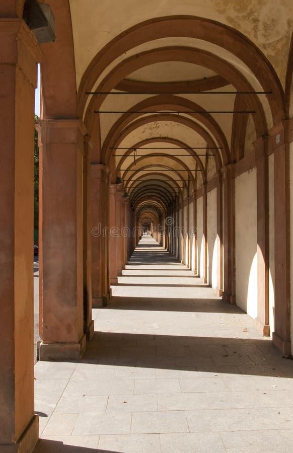 Arch san luca in bologna stock photography