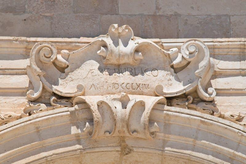 The arch of Santo Stefano. Martina Franca. Puglia. Italy. Detail of the arch of Santo Stefano. Martina Franca. Puglia. Italy royalty free stock photography