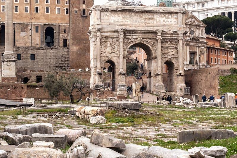 arch septimius severusie zdjęcia royalty free