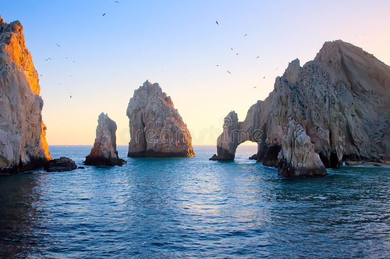 The Arch at Sunset in Cabo stock image