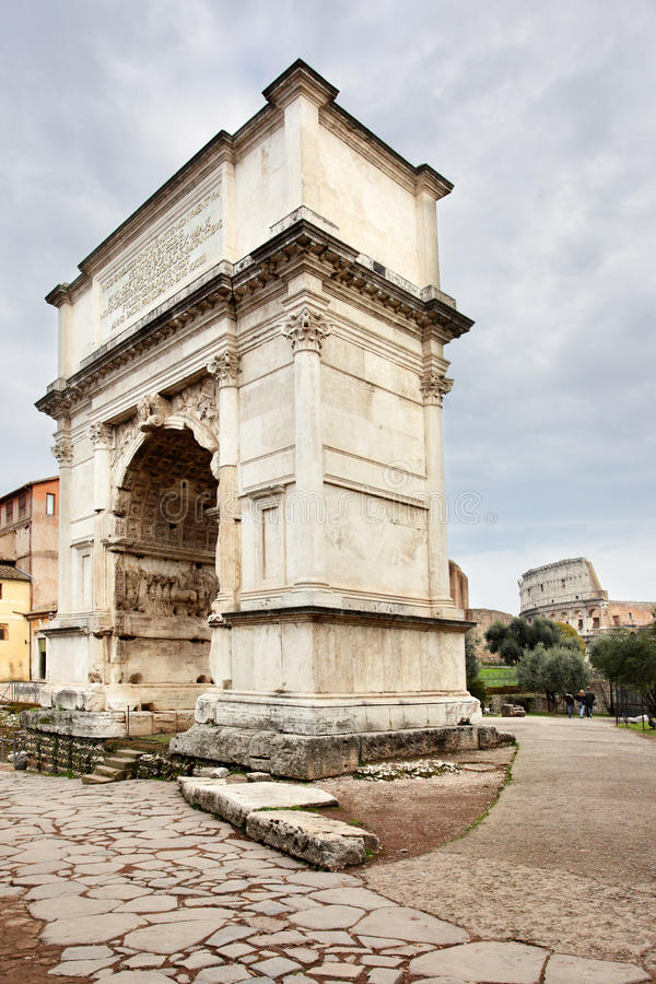 The Arch of Titus. Rome, Italy royalty free stock photo