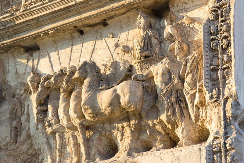The Arch of Titus, Rome, Italy stock photo