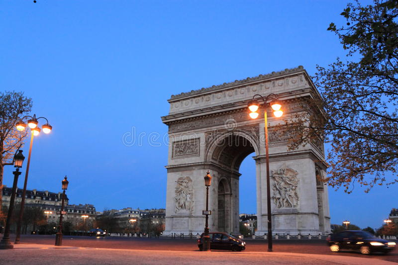Download Arch of Triumph stock image. Image of early, arch, dusk - 24343823