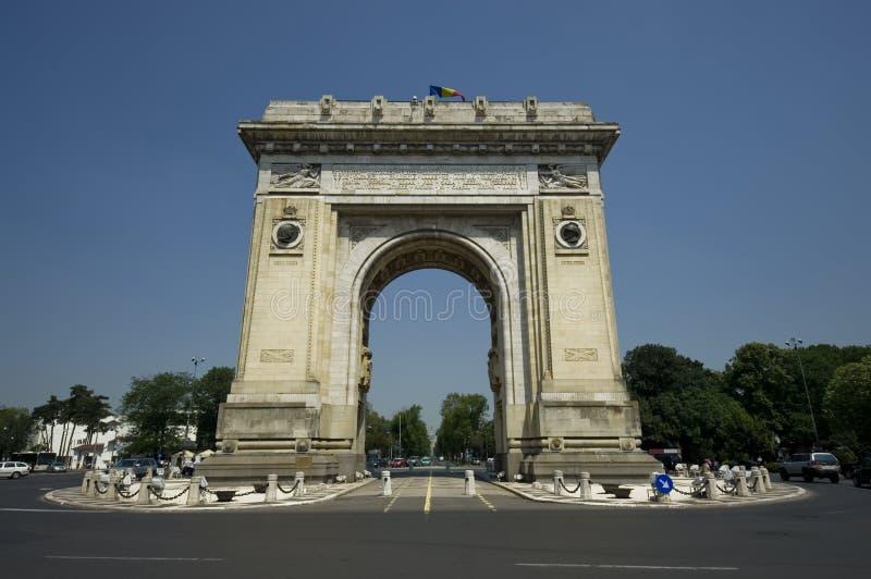 Arch of Triumph. Bucharest Romania stock image