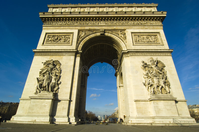The Arch of Triumph. In Paris royalty free stock image