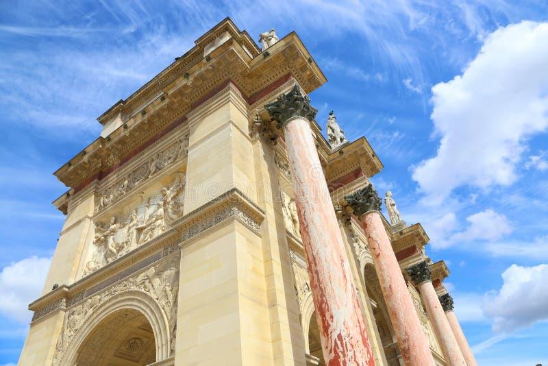 Arch of triumph - Paris. Arch of triumph or Arc De Triomphe du carrousel in Paris - France royalty free stock image