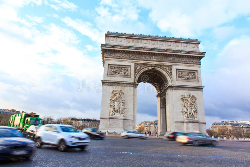 Download Arch Of Triumph Of Paris, France Stock Photo - Image: 27938918