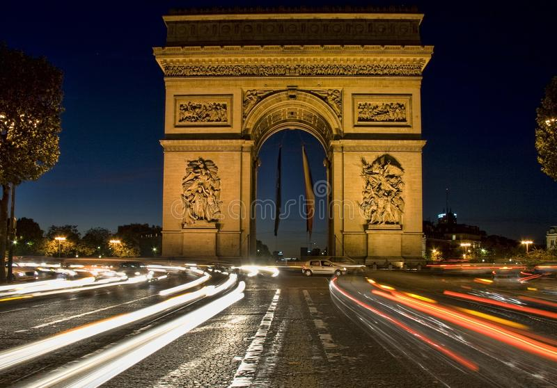 Arch of Triumph, Paris France royalty free stock photo