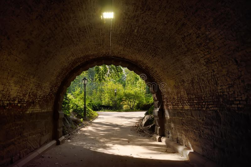 Arch and tunnel in Central Park, New York City royalty free stock photos