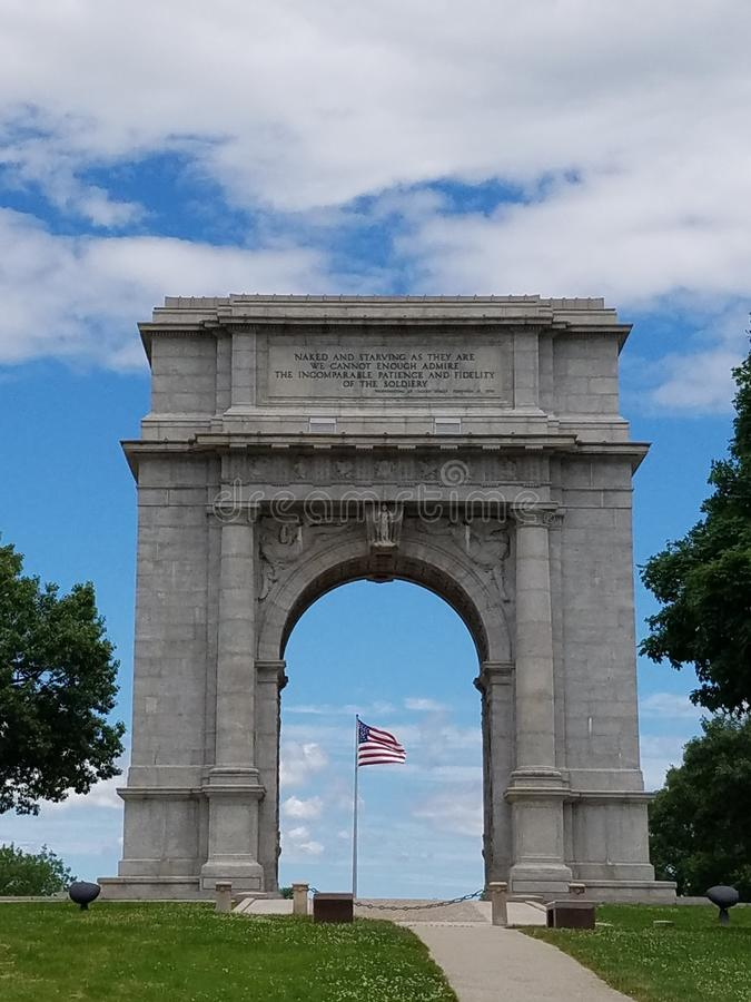 The Arch at Valley Forge royalty free stock image