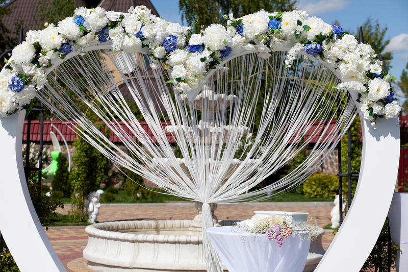 Arch at wedding ceremony royalty free stock photos