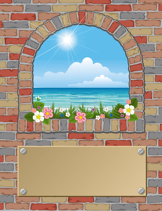 Download Arch window stock vector. Illustration of flowers, architecture - 15257333