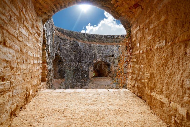Arch window Alcazaba door of Alhambra royalty free stock images