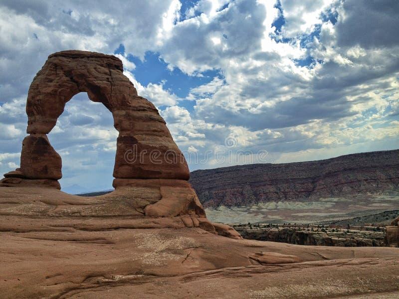arch wysklepia delikatnego Moab Utah parku narodowego zdjęcia royalty free