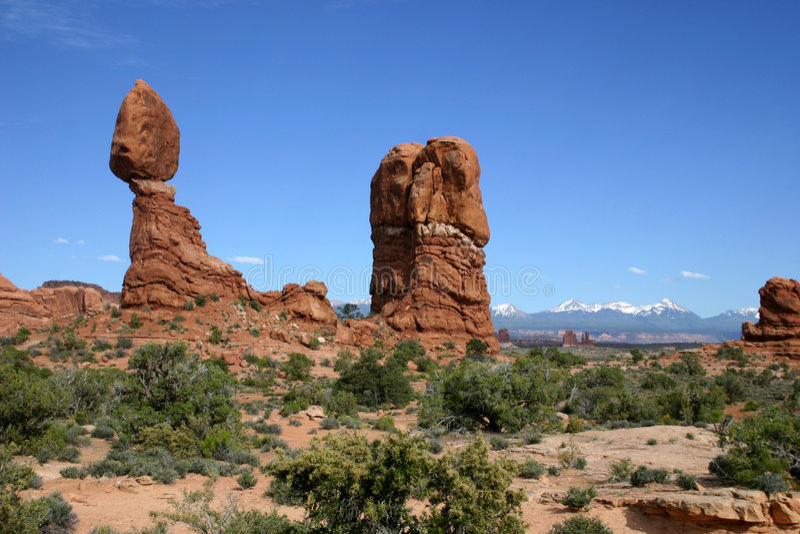 arch zrównoważonej np rock obraz stock