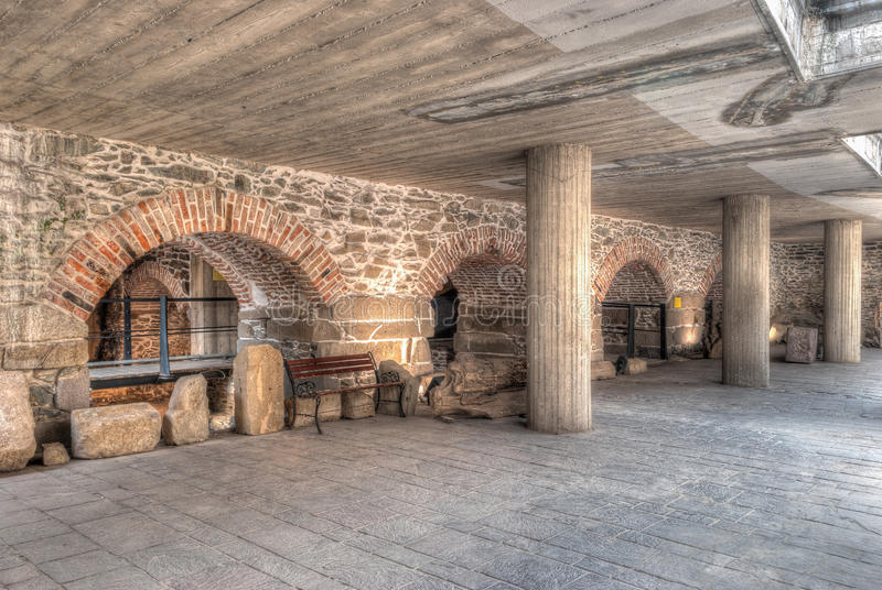 Archaeologic museum. In Kosice, Slovakia stock images