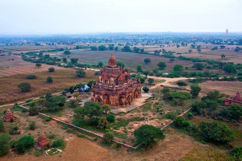archaeological bagan myanmar zon arkivfoto