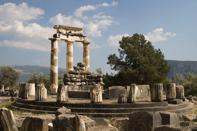 archaeological delphi lokal arkivfoton