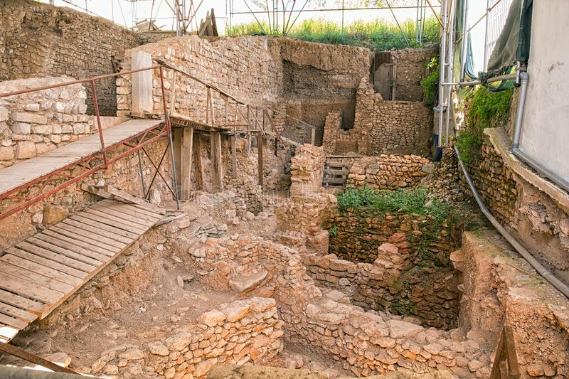 Archaeological Excavation in Tavira, Portugal. royalty free stock image