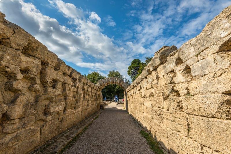 archaeological greece olympialokal royaltyfria foton