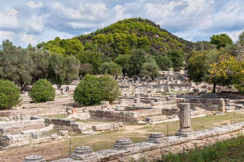 archaeological greece olympialokal arkivfoton