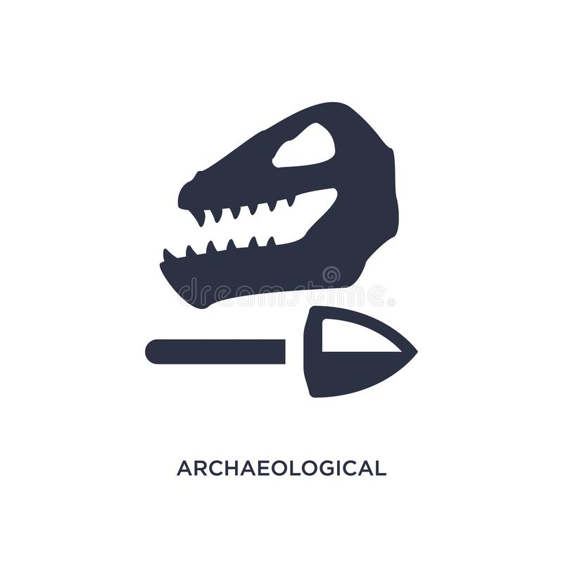 Archaeological icon on white background. Simple element illustration from history concept. Archaeological icon. Simple element illustration from history concept royalty free illustration