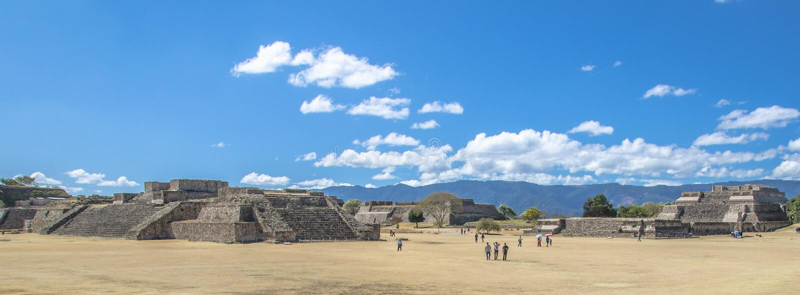 Archaeological Monte του Alban περιοχή Oaxaca Μεξικό στοκ φωτογραφία