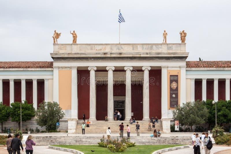 Archaeological museum Athens Grekland för medborgare fotografering för bildbyråer