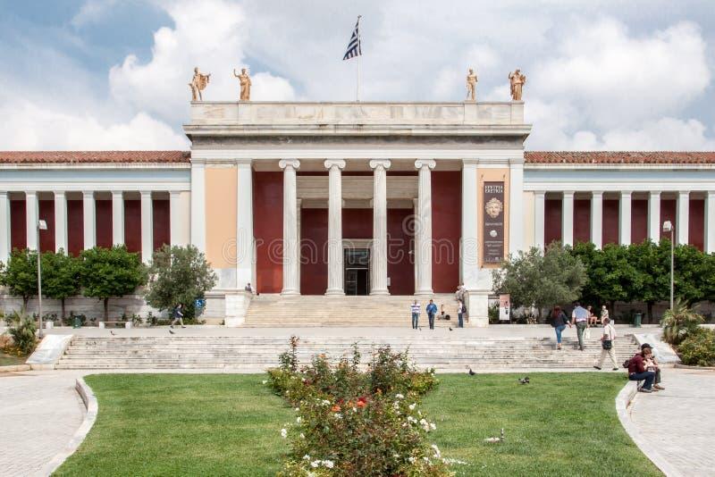 Archaeological museum Athens Grekland för medborgare royaltyfri bild