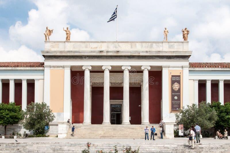 Archaeological museum Athens Grekland för medborgare royaltyfri foto