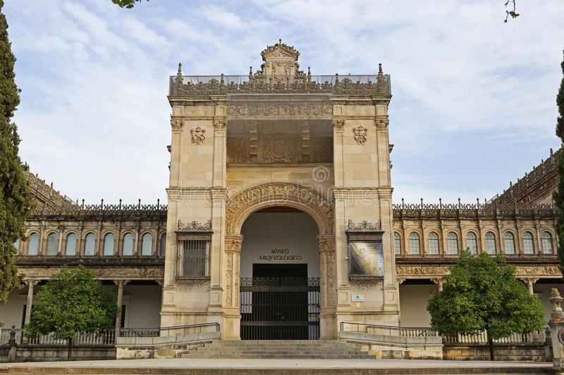The archaeological museum of Seville stock photos
