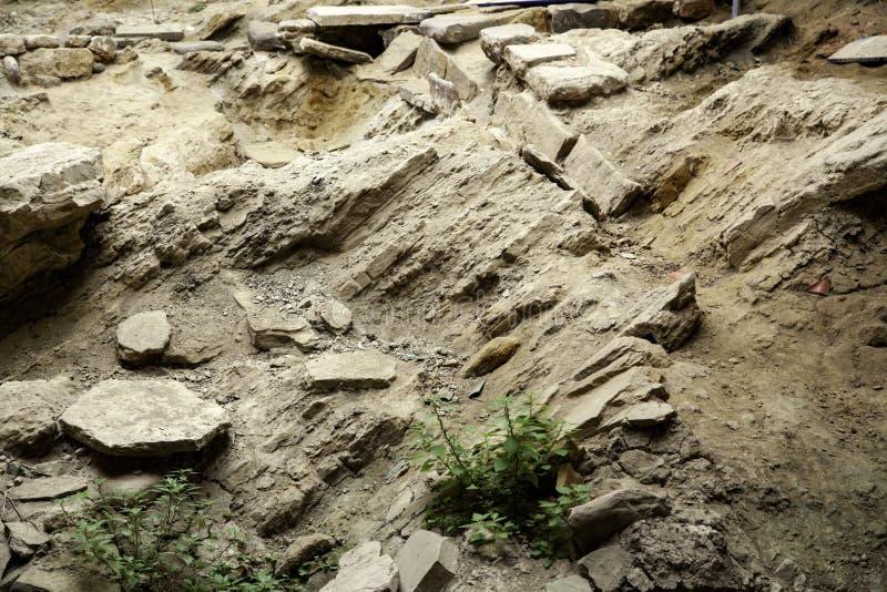 archaeological park f?r paphos f?r cyprus utgr?vningkato royaltyfri foto