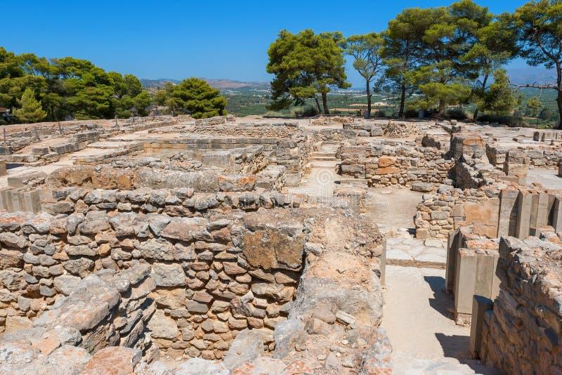 Slott av Phaistos. Crete Grekland royaltyfri fotografi