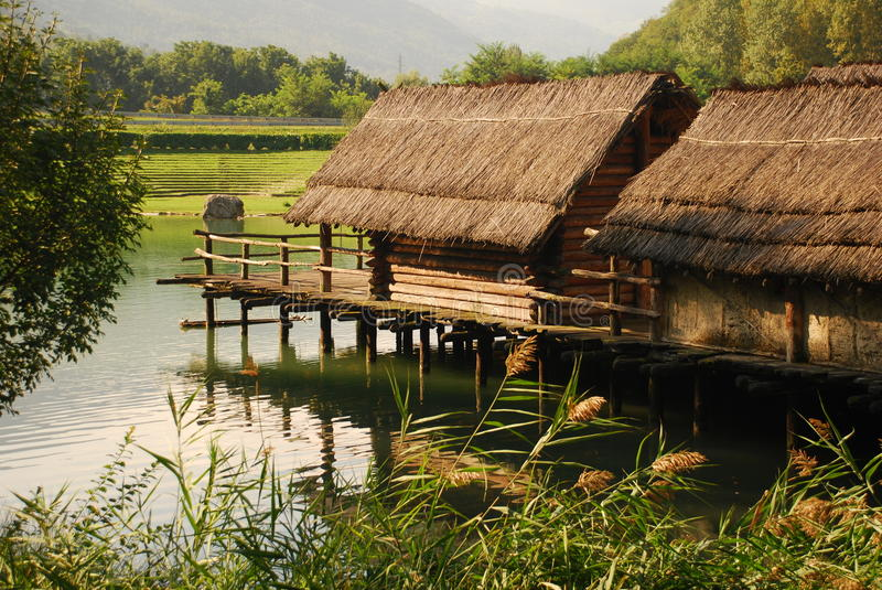 Download Archaeological Recontruction, Pile Dwelling Stock Image - Image: 21669065