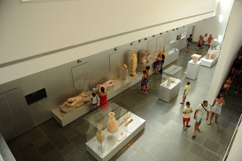 Inside the Baelo Claudia Visitor Center in Tarifa, province of Cádiz, Spain royalty free stock image
