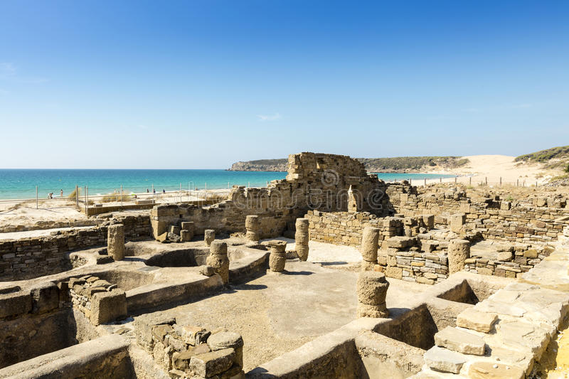 Archaeological site of Baelo Claudia in Spain. stock photo