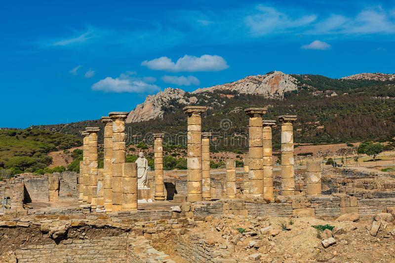 Archaeological site of Baelo Claudia in Spain. royalty free stock photography