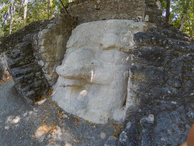 Archaeological Site: El Mirador, the cradle of Mayan civilization and the oldest mayan city in history. Buried within the furthest reaches of the Petén jungle royalty free stock photos