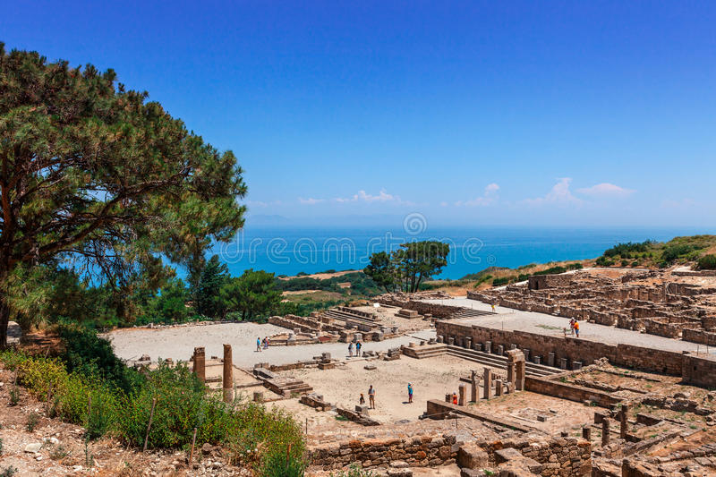 Archaeological site of Kameiros in Rhodes. stock photography