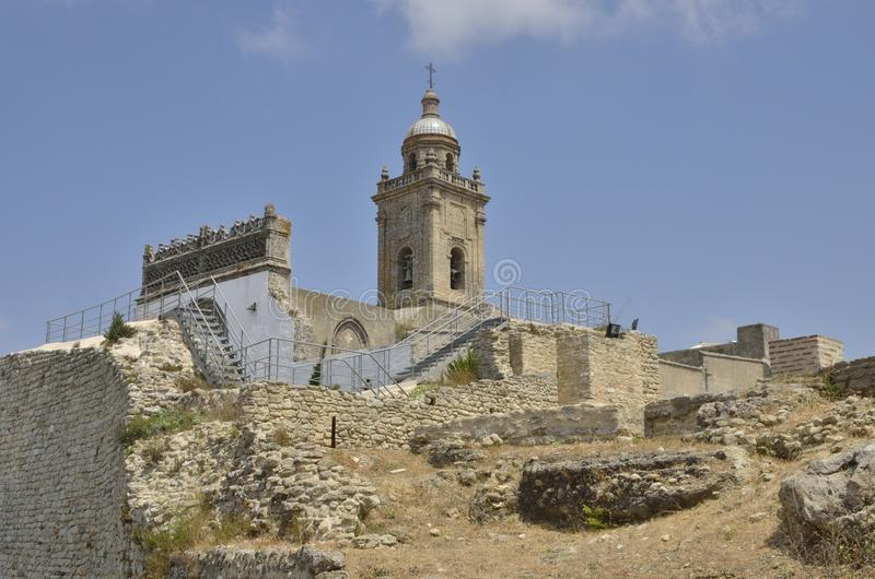 Archaeological site in Medina Sidonia royalty free stock image